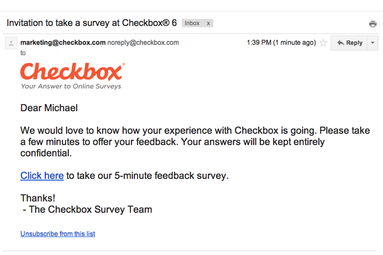 8 tips for maximizing online survey responses checkbox for Customer survey email template