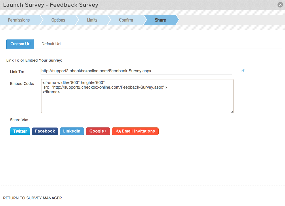 Launch Your Survey
