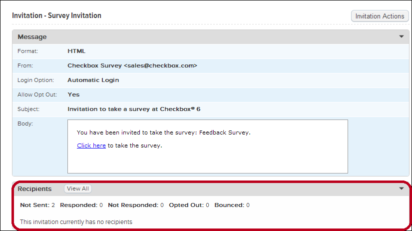 How to schedule invitation reminders checkbox survey developer center select invitation stopboris Image collections