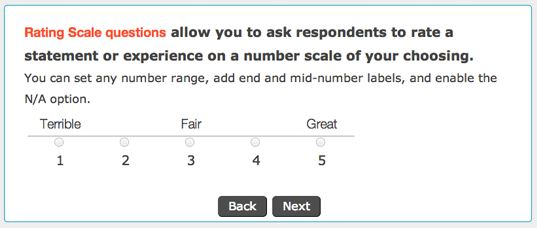 Rating Scale for Online Surveys